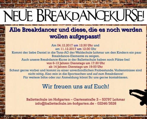 Breakdance neuer Kurs