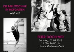 Die Ballettschule im Hofgarten wird 25!