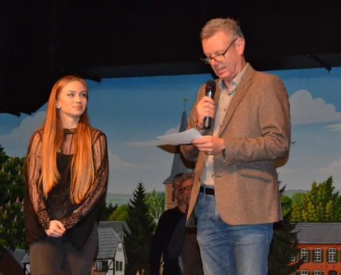 Alina Hartmann, Vierfache Weltmeisterin und Bürgermeister Horst Krybus